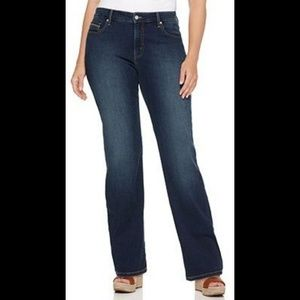 Levi's 512 Perfectly Shaping straight leg jeans
